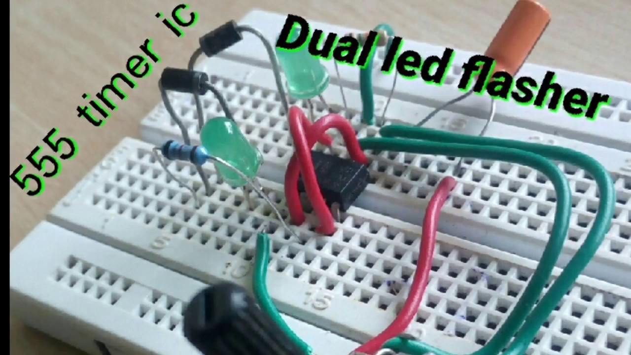 Dual Led Flasher By Using 555 Timer IC - YouTube