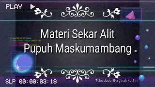 Materi Sekar Alit, Pupuh Maskumambang