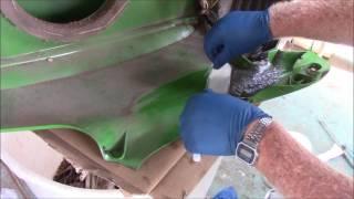 Repair on broken John Deere rider hood