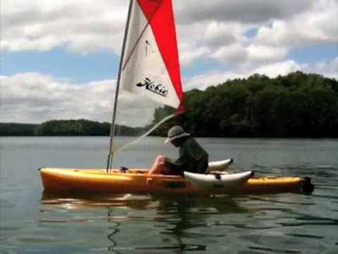 Converting from kayak to sailboat, Hobie Outback with Ama's