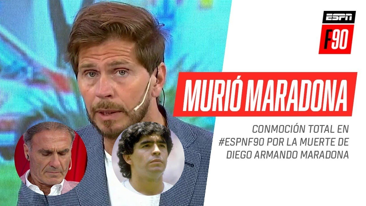 Conmoción total en #ESPNF90 por la muerte de Diego #Maradona - download from YouTube for free