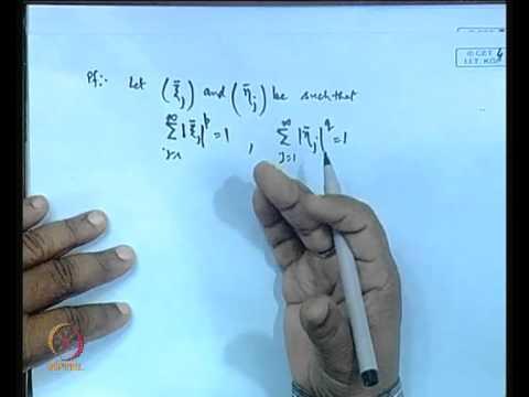 Mod-01 Lec-02 Holder Inequality and Minkowski Inequality