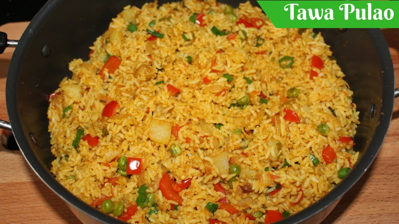 Tawa Pulao Recipe Mumbai Street Food Easy Indian Rice