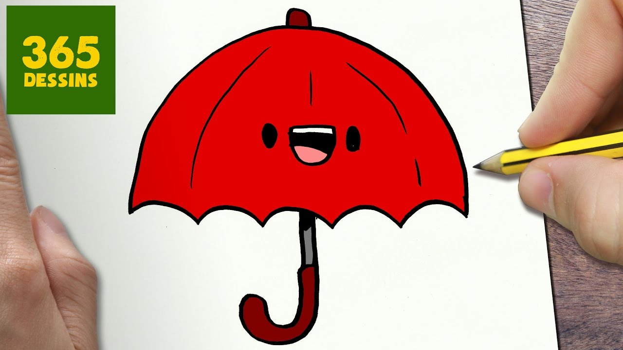 Comment dessiner parapluie kawaii tape par tape - Facile dessin ...