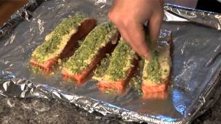 Wasabi Pea Crusted Salmon By Chef Ryan