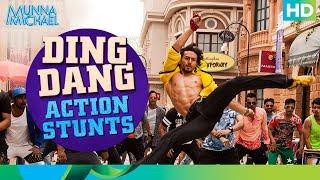 Ding Dang Action Stunts (Don't try this at home!)   Munna Michael 2017    Tiger Shroff