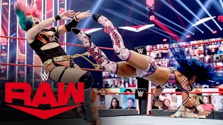 Asuka vs. Sasha Banks – Raw Women's Championship Lumberjack Match: Raw, Aug. 24, 2020