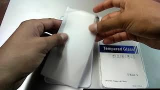 Película de Vidrio Templado de Pantalla Protector para iPhone X - TRANSPARENTE-GEARBEST