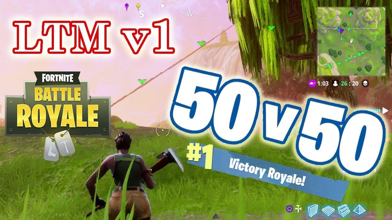 50 Vs 50 Limited Time Game Mode V1 4 Matches Fortnite Battle