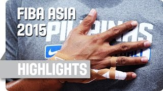 Philippines v Iran - Group E - Game Highlights - 2015 FIBA Asia Championship