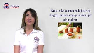 Serbian Lesson 1.1  - Partition of words to syllables - Serbian language courses