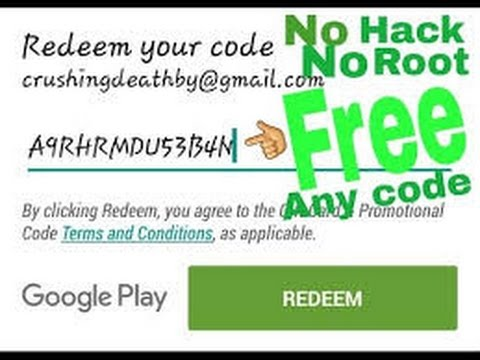 How to get free redeem code in android