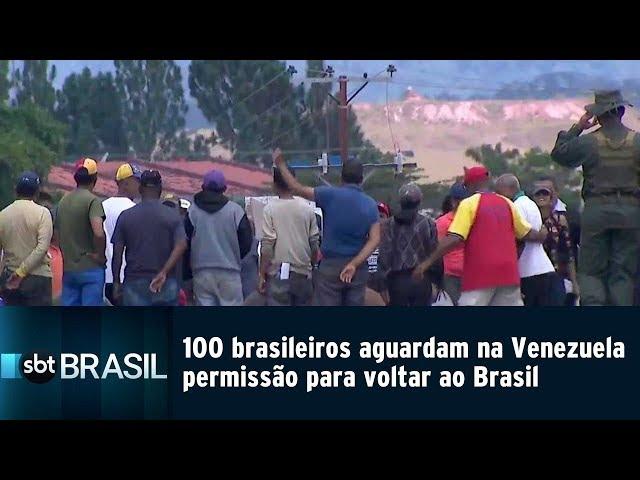 100 brasileiros aguardam na Venezuela permissão para voltar ao Brasil   SBT Brasil (26/02/19)