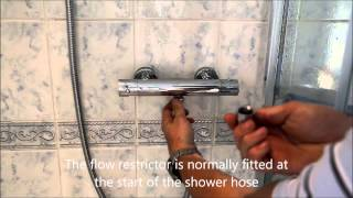 How to fit a Shower flow rate restrictor