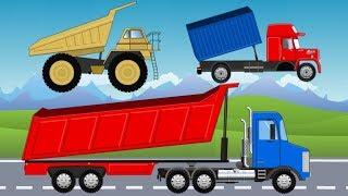 Learn Car Dump Truck Excavator Bulldozer Wheel Loader Garbage Truck | Bajki Maszyny