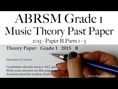 ABRSM Music Theory Grade 1 Past Paper 2015 B with Sharon
