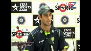 Glenn Maxwell claims to keep Ranchi crowd shut up!