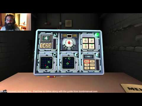 This game has one player try to defuse a bomb while the other players ('experts') read the bomb's manual and tell the defuser what to do. Watch as this player talks to multiple experts at the same time in one of the tensest moments I have ever seen