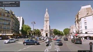 Часть 33.  Город Париж.  Part 33.  City Paris.(Картографические данные: Google, DigitalGlobe Map data : Google, DigitalGlobe Видео создано на основе дорожных панорам и Карт Google..., 2016-04-04T16:01:23.000Z)