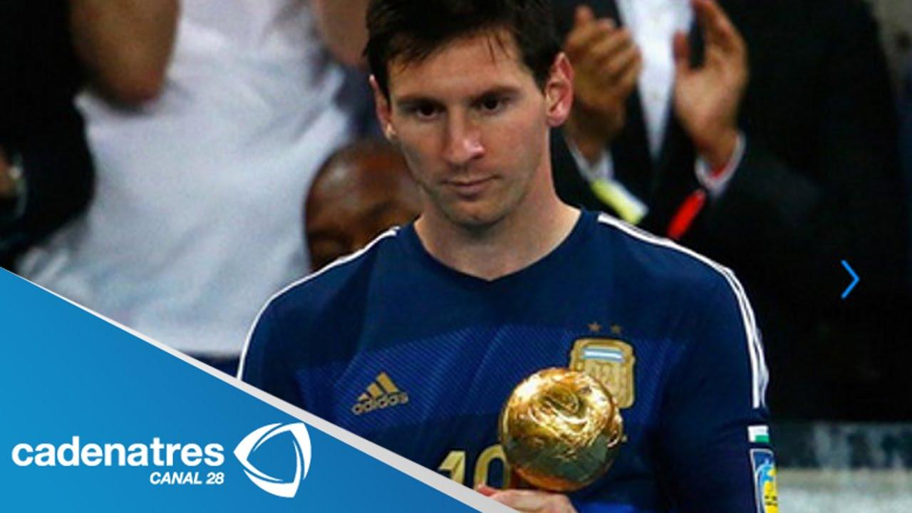 Lionel Messi Gana El Balón De Oro Del Mundial De Brasil