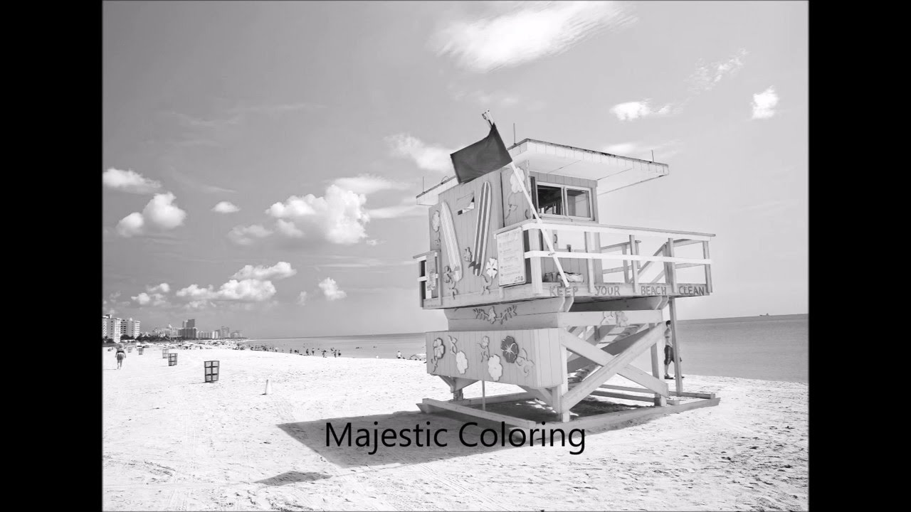 Just Beachy: Grayscale Photo Coloring Book for Adults - YouTube
