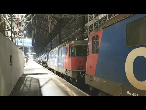 Freight trains in Basel SBB [5.3.18]