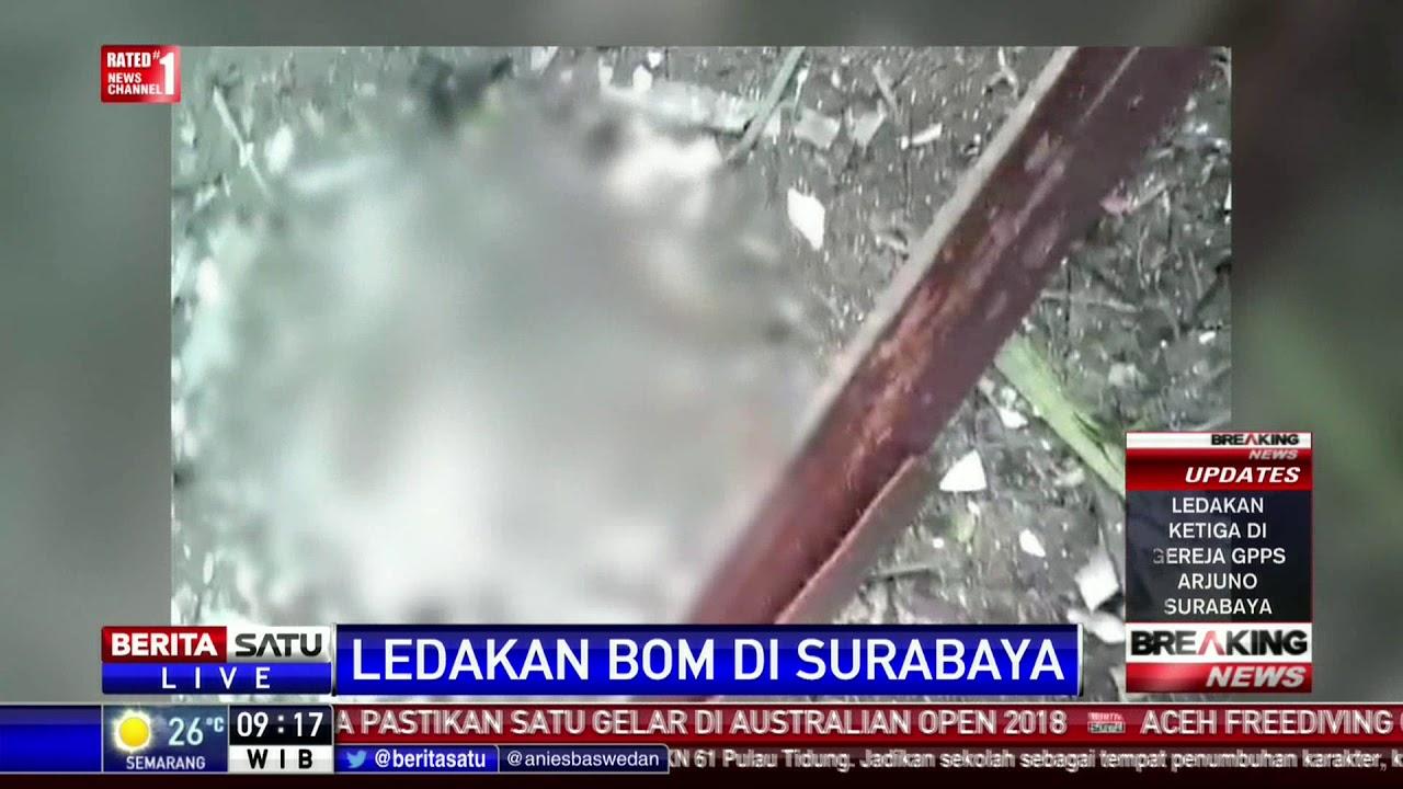 Korban Tewas Ledakan Bom Gereja di Surabaya Jadi 3 Orang ...