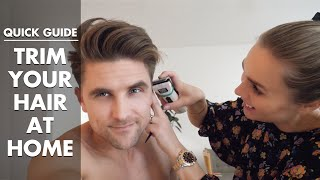How to trim your hair at home - quick guide for men