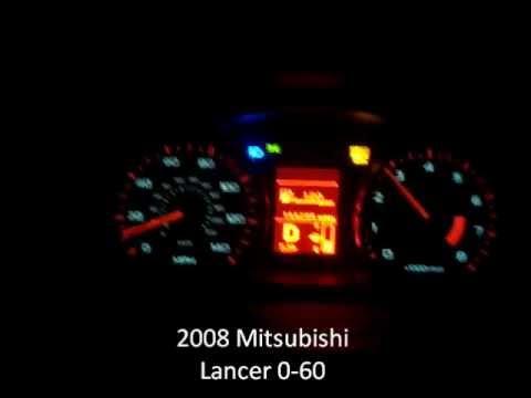 2008 Mitsubishi Lancer 0 60 Cvt Transmission Youtube