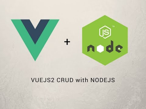 vuejs 2 crud with nodjs