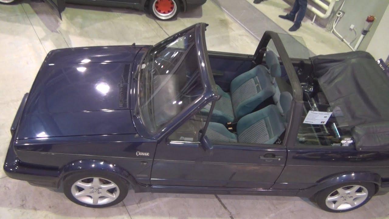 volkswagen golf mk1 cabriolet classic line edition 1992. Black Bedroom Furniture Sets. Home Design Ideas