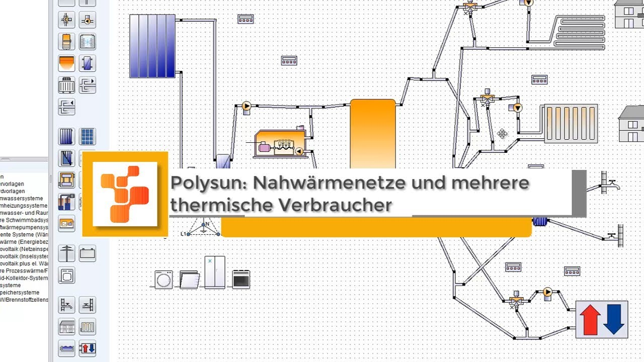 polysun nahwarmenetze und mehrere thermische verbraucher