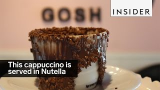 This Cappuccino Is Served In Nutella And Chocolate