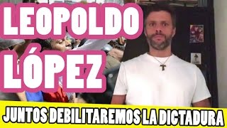 Elecciones Venezuela 2015  Leopoldo López pide votación para terminar con la dictadura.