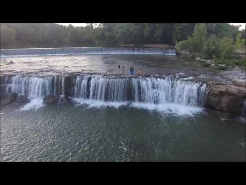 Visit to Grand Falls on Shoal Creek Joplin, MO - DJI Phantom 3 Drone
