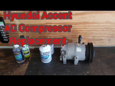How to replace the ac compressor in a Hyundai Accent