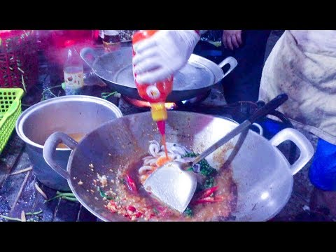 Asian Street Food, Fast Food Street in Asia, Cambodian Street food #202