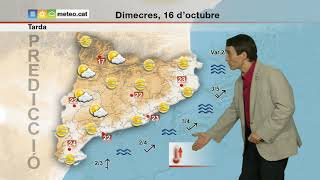 Predicció general per a dimecres 16-10-2019 tarda:  tornen els núvols alts