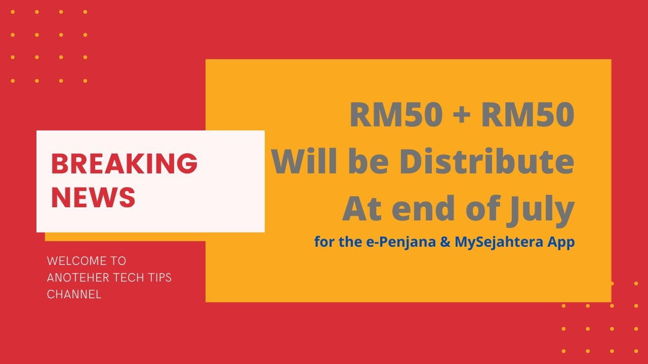 How To Claim Rm50 E Penjana And Extra Rm50 Rm50 Rm50 E Penjana Video Must Watch Youtube