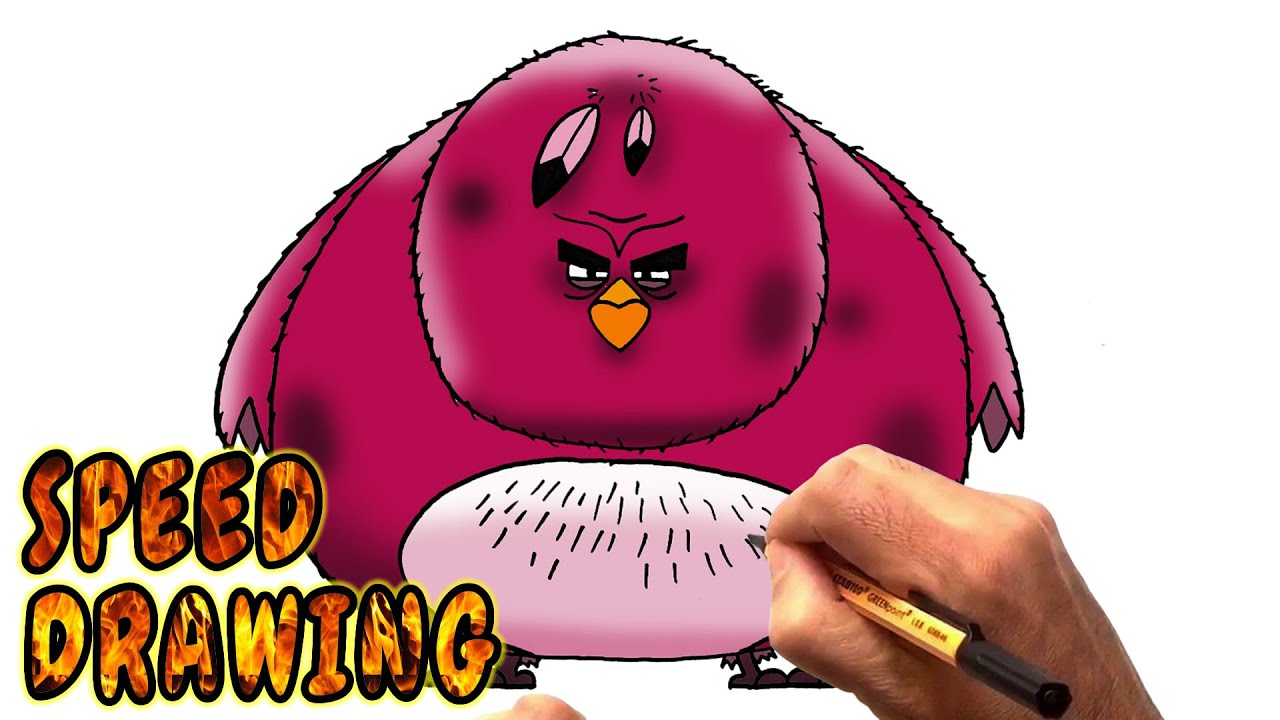 Drawing Angry Birds Movie: How To Draw Terence From The Angry Birds Movie (Speed