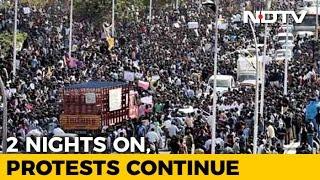 36 Hours And Counting. Thousands At Chennai's Marina Beach Against Jallikattu Ban