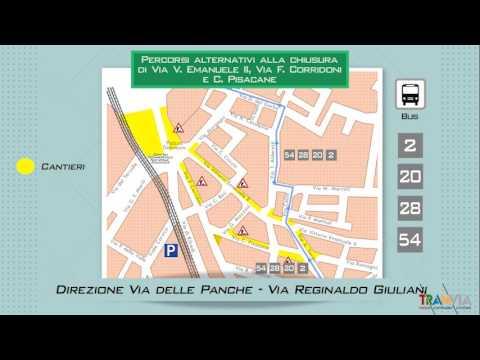 Tramvia Firenze, infografica sui cantieri autunnali 2016