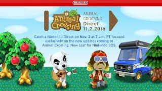 Animal Crossing Direct 11.2.2016