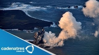 Actividad volcánica crea isla en Japón / Volcanic activity creates island in Japan (VIDEO)
