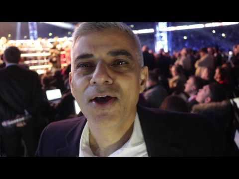 MAYOR OF LONDON SADIQ KHAN OVER WHELMED WITH PRIDE AT SEEING LONDONER ANTHONY JOSHUA TRIUMPHANT