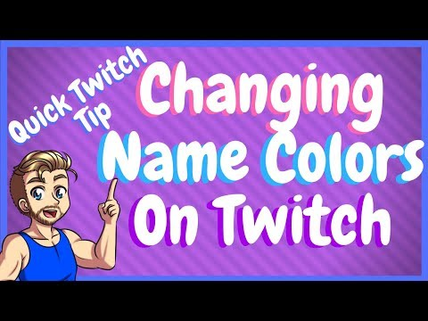 How to change twitch name color to black
