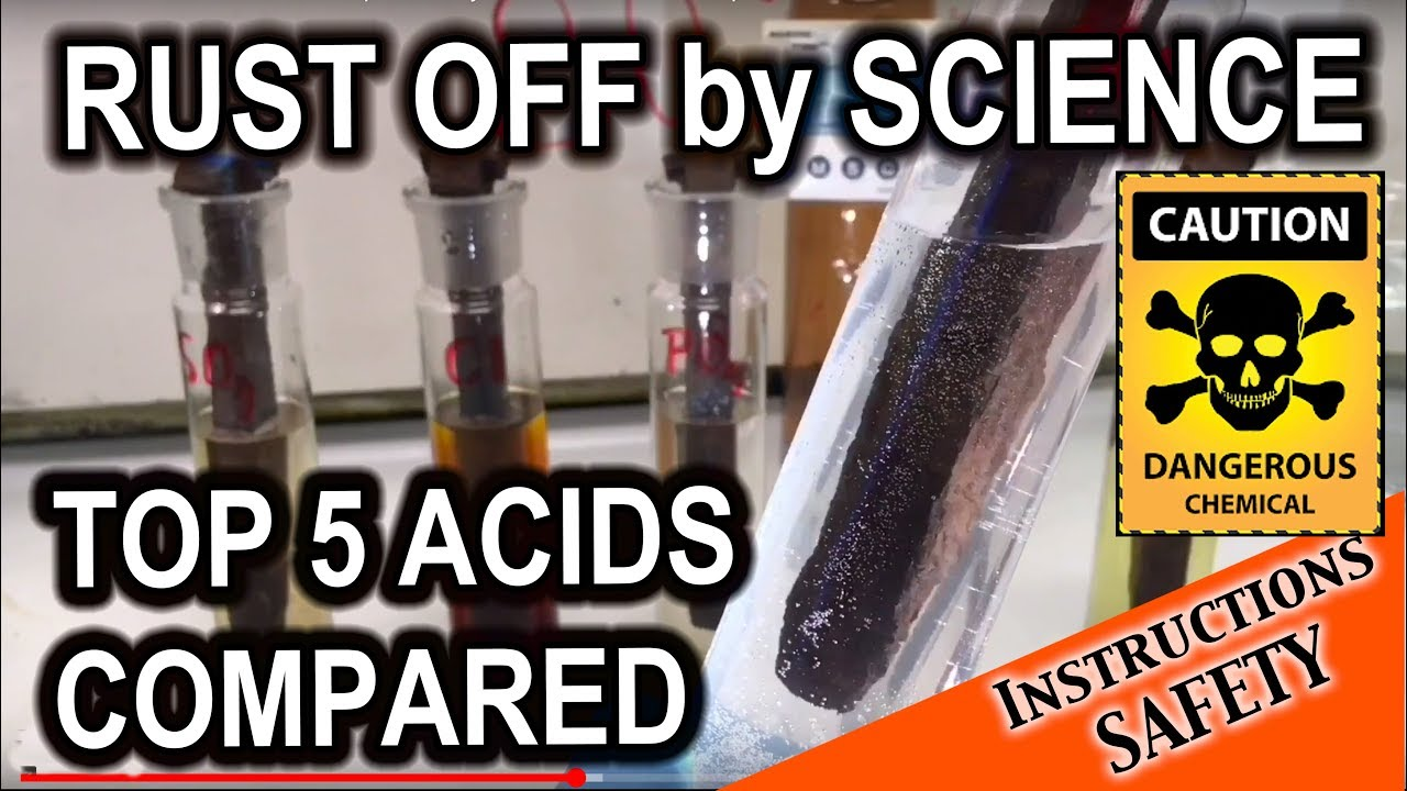 True rust removal by a chemist - acids compared
