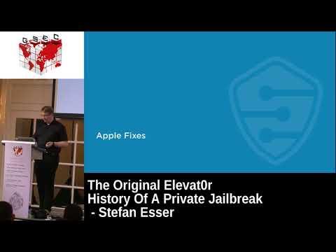 #HITBGSEC 2017 CommSec D1 - The Original Elevat0r: History Of A Private Jailbreak - Stefan Esser