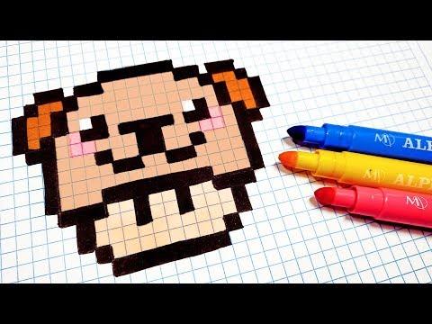 Handmade Pixel Art How To Draw Kawaii Bear Mushroom