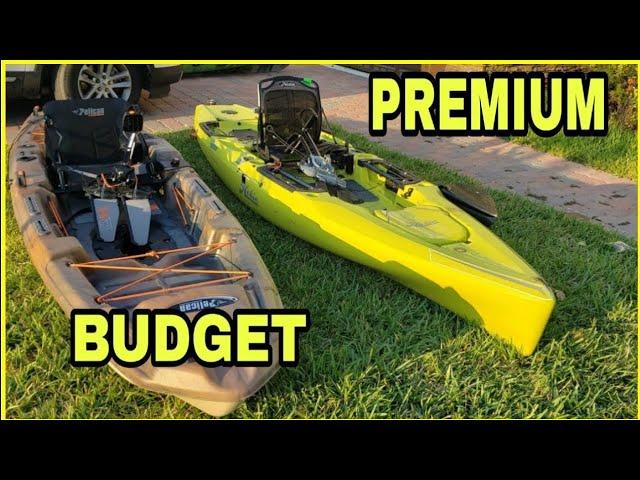 Budget Pedal Kayak vs Premium - Pelican Catch 130 Hydryve Vs Hobie Outback 2019